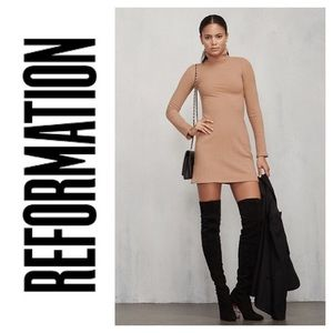 Reformation Rochelle Turtleneck Dress